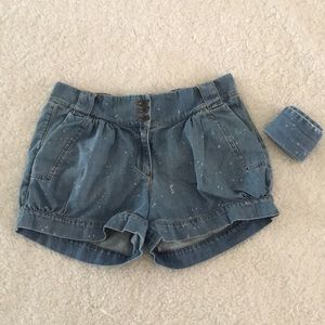 French Connection Paper Bag style Denim Shorts